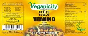 Veganicity nalepka witamina d2
